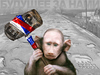 Cartoon: Political party -Edinaya Rossiya (small) by Bom tagged russian elections