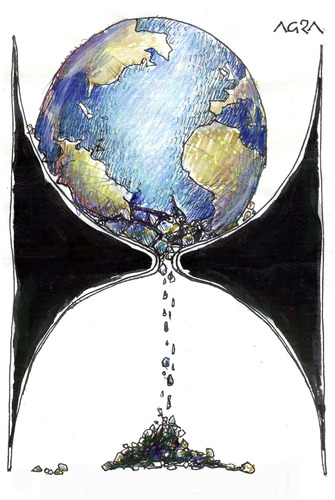 Cartoon: Tiempo final (medium) by AGRA tagged earth,ecology