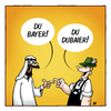 Cartoon: Dubaier (small) by volkertoons tagged volkertoons,cartoon,bayern,bayer,dubai,dubaier,kalauer,wortspiel,albern,lustig,humor,völker,nationen,ethnizitäten,gelb,trachten