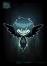 Cartoon: fallen angels - angel of sorrow (small) by volkertoons tagged engel angel angels