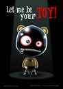 Cartoon: Let me be your toy! (small) by volkertoons tagged volkertoons cartoon comic karte grußkarte postkarte greeting card bär baer teddy bear teddybär spielzeug toy pet plüschtier kuscheltier stofftier sm fetisch sex latex piercing sklave slave