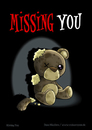 Cartoon: Missing You (small) by volkertoons tagged volkertoons cartoon comic karte grußkarte postkarte greeting card bär baer teddy bear teddybär spielzeug toy pet plüschtier kuscheltier stofftier kaputt damaged out of order tot dead einsamkeit allein alleinsein loneliness lonely alone traurig sad