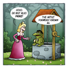Cartoon: Prinz (small) by volkertoons tagged volkertoons cartoon märchen fairy tale prinz prince prinzessin princess frosch frog froschkönig lustig albern kalauer
