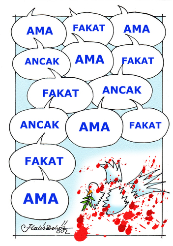 Cartoon: AMA   BUT (medium) by halisdokgoz tagged dokgoz,but,ama