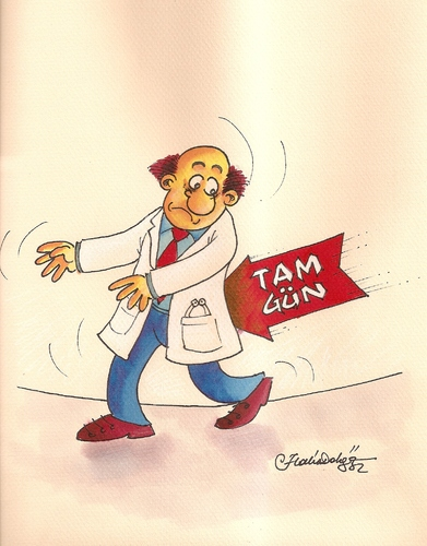 Cartoon: full time law for doctors (medium) by halisdokgoz tagged full,time,law,for,doctors,in,turkey