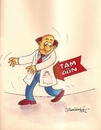 Cartoon: full time law for doctors (small) by halisdokgoz tagged full,time,law,for,doctors,in,turkey