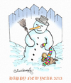 Cartoon: HAPPY NEW YEAR 2013 (small) by halisdokgoz tagged happy,new,year,2013