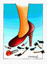 Cartoon: Woman Rights (small) by halisdokgoz tagged woman,rights,dokgoz