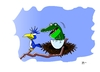 Cartoon: Addoption (small) by Tricomix tagged krokodil,vogel,nest,adoption,ast,baum,gefahr,tod