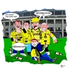 Cartoon: Der Irlläufer - The stray (small) by Tricomix tagged borrussia,dortmund,dynamo,dresden,pokalfinale,bundesliga,zweite,fans