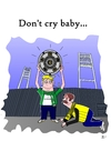 Cartoon: Dont cry baby (small) by Tricomix tagged werder,bremen,borussia,dortmund,bundesliga,soccer,deutscher,meister,sky,sportschau,championchip