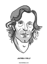 Cartoon: Andrea Pirlo (small) by Ahmedfani tagged football italy pirlo