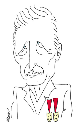 Cartoon: R.I. P. Müsfik Kenter (medium) by Hayati tagged musfik,kenter,artist,schauspieler,kenterler,theater,tiyatro,yildiz,istanbul,hayati,boyacioglu,berlin