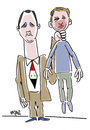 Cartoon: Assad and Aschraf (small) by Hayati tagged assad,and,ashraf,syrien,suriye,staatsterror,folterung,todesopfer,grenzen,protest,hayati,boyacioglu,berlin