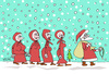 Cartoon: Happy Noel ! (small) by Hayati tagged nikolaus,papa,noel,baba,2013,neues,jahr,yeni,yil,hayati,boyacioglu,berlin