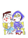 Cartoon: Love on Sunday (small) by Hayati tagged love,on,sunday,kiss,kuss,opucuk,buse,liebe,ask,asik,gibi,hayati,boyacioglu,berlin