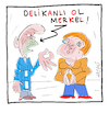 Cartoon: Sei ein Mann Merkel! (small) by Hayati tagged angela,merkel,cdu,deutschland,germany,recep,tayyip,erdogan,akp,turkei,demokratie,demokrasi,cartoon,hayati,boyacioglu,berlin