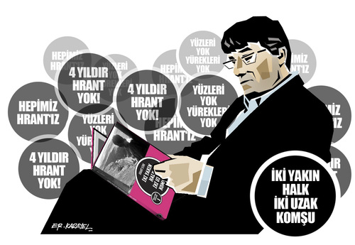 Cartoon: HRANT DINK (medium) by donquichotte tagged hrntdnk