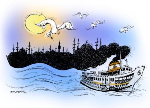 Cartoon: ISTANBUL... (medium) by donquichotte tagged ist