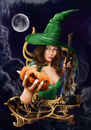 Cartoon: Witch (small) by lexluther tagged witch,halloween,spirit,horror