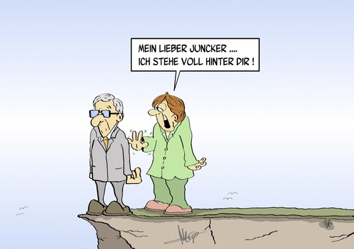 Cartoon: hinter Juncker (medium) by Marcus Gottfried tagged eu,europa,parlament,jean,claude,juncker,schulz,wahl,kommission,kommissionschef,posten,marcus,gottfried,cartoon,karikatur,postengeschacher,personalie,gipfel,nominierung,abgrund,sturz,eu,europa,parlament,jean,claude,juncker,schulz,wahl,kommission,kommissionschef,posten,marcus,gottfried,cartoon,karikatur,postengeschacher,personalie,gipfel,nominierung,abgrund,sturz