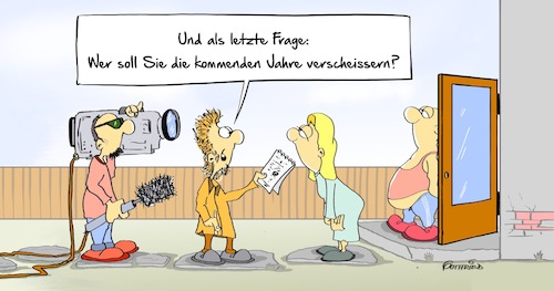 Cartoon: Verscheissern (medium) by Marcus Gottfried tagged bundestagswahl,wahl,2017,parlament,umfrage,informationen,meinung,meinungsumfrage,werte,verscheissern,verarschen,interview,reportage,freude,marcus,gottfried,cartoon,karikatur,bundestagswahl,wahl,2017,parlament,umfrage,informationen,meinung,meinungsumfrage,werte,verscheissern,verarschen,interview,reportage,freude,marcus,gottfried,cartoon,karikatur