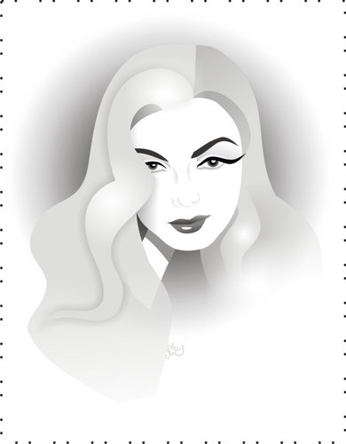 Cartoon: Veronica Lake (medium) by Nicoleta Ionescu tagged veronica,lake