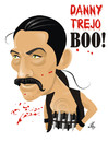 Cartoon: Danny Trejo (small) by Nicoleta Ionescu tagged danny,trejo