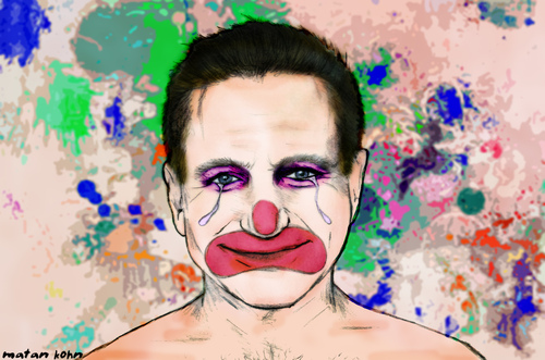Cartoon: robin williams- Sad Clown (medium) by matan_kohn tagged robin,williams,sad,clown,matan,kohn