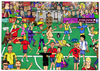 Cartoon: Football (small) by matan_kohn tagged football,field,game,soccer,david,beckham,maradonna,matan,kohn,judge,red,card,funny