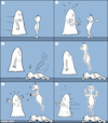 Cartoon: ghost (small) by matan_kohn tagged ghost,funny,comics,comic,comicstrip,stripcomic,caricature,illustration,drawing,thefinger