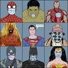 Cartoon: Superheroes with corona mask (small) by matan_kohn tagged comics,funny,covid19,coronavirus,mask,superman,spaiderman,hulk,wonderwoman,batman,ironman,illustration,caricature