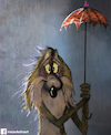 Cartoon: Wile E. Coyote (small) by matan_kohn tagged coyote,funny,kohn,matan,road,runner,sad,storm,wile,rain,cartoon,movie