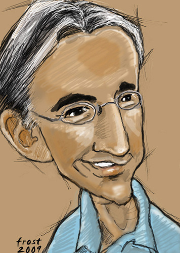 Cartoon: Michael Tilson Thomas (medium) by frostyhut tagged tilsonthomas,conductor,american,music,classical