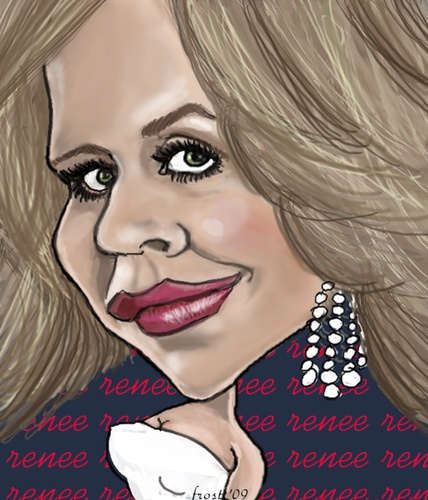 Cartoon: Renee Fleming (medium) by frostyhut tagged opera,diva,renee,fleming,singer