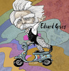 Cartoon: Edvard Grieg (small) by frostyhut tagged edvard,grieg,classical,music,norwegian,composer,moustache,moped