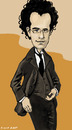 Cartoon: Gustav Mahler (small) by frostyhut tagged german composer mahler suit glasses curly music caricature