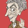 Cartoon: Pervy Old Guy (small) by frostyhut tagged man,old,guy,wrinkles,red,suite,nose,curly