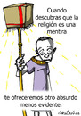 Cartoon: Vender mentiras (small) by LaRataGris tagged religion