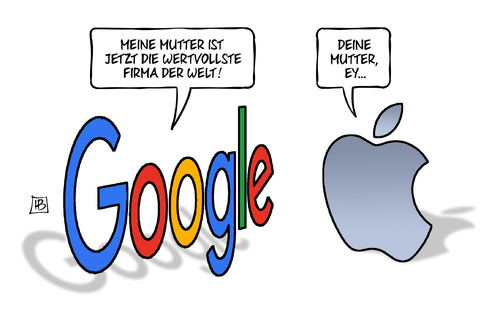 Cartoon: Google-Mutter (medium) by Harm Bengen tagged google,mutter,alphabet,konzern,wertvollste,firma,apple,aktien,börse,harm,bengen,cartoon,karikatur,google,mutter,alphabet,konzern,wertvollste,firma,apple,aktien,börse,harm,bengen,cartoon,karikatur