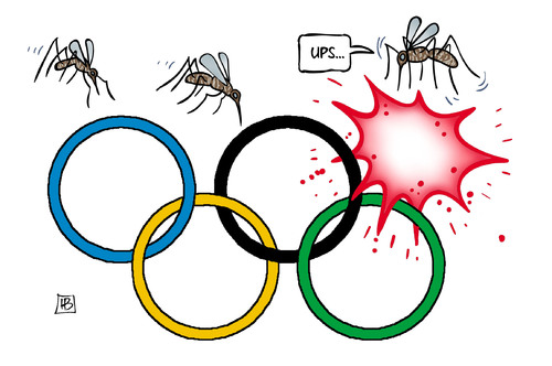 Cartoon: Zika-Virus (medium) by Harm Bengen tagged zika,virus,tigermücke,brasilien,olympiade,who,schwangerschaft,harm,bengen,cartoon,karikatur,zika,virus,tigermücke,brasilien,olympiade,who,schwangerschaft,harm,bengen,cartoon,karikatur