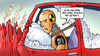 Cartoon: ADAC-Misstrauen (small) by Harm Bengen tagged adac,misstrauen,betrug,geschoent,zahlen,gelber,engel,automobilindustrie,club,verkehr,dummy,crashtest,auto,unfall,harm,bengen,cartoon,karikatur