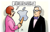 Cartoon: Apple-Hack (small) by Harm Bengen tagged angriff,hacker,apple,app,store,it,sicherheit,bengen,cartoon,karikatur