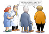 Cartoon: Unions-Sondierungen (small) by Harm Bengen tagged union,cdu,csu,sondierungen,jamaika,horst,seehofer,merkel,obergrenze,arzt,krankenschwester,verband,harm,bengen,cartoon,karikatur