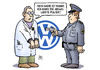 Cartoon: VW-Manni (small) by Harm Bengen tagged manni,vw,polizei,bauernopfer,abgaswerte,abgasskandal,manipuliert,manipulieren,harm,bengen,cartoon,karikatur