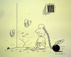 Cartoon: Prisoner (small) by cizofreni tagged prisoner mahkum hapishane prison freedom speech dusunce sucu