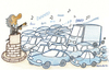 Cartoon: Terrific Traffic (small) by cizofreni tagged trafik,araba,otomobil,sef,orkestra,muzik,traffic,car,conductor,orchestra,music