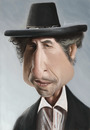 Cartoon: Bob Dylan (small) by jonesmac2006 tagged caricature