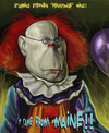 Cartoon: Stephen King homage (small) by jonesmac2006 tagged stephen,king,pennywise