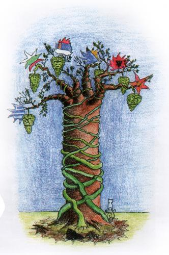 Cartoon: Balkan Tree (medium) by MelgiN tagged balkan,nationalism